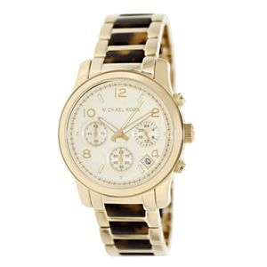 NEW WITH BOX! Michael Kors -- Gold Tortoise Watch